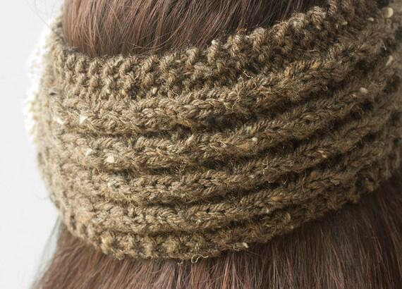 Flower Headband Knitting Pattern, Instant Download, Flower ...