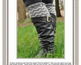 Chevron Boot Cuffs Pattern PDF