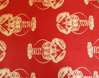 "Red Lobster Table Runner. 72"" Long Table Runner. Summer Runner. Seafood Runner. Picnic and Clambake Runner."