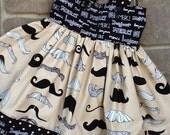 French Mustache sundress jumper or tunic etsykids team