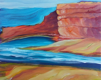 Canyon Dreams 35 original abstract landscape oil painting
