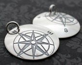 Custom Compass Charm in Sterling Silver - EWD Extras and Add Ons