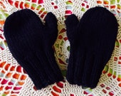 Black Toddler Mittens