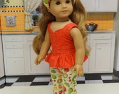 Fruit Punch - Peplum top and capris for American Girl