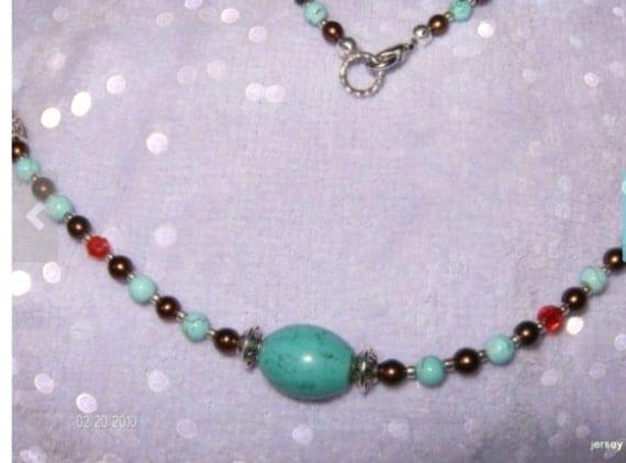 SUNSET Beautiful Turquoise Southwestern Necklace