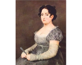 Woman in Gray, by Goya - an Original 1954 Frameable Art Print