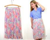 Pleated Maxi Skirt - Long Floral Skirt - Bohemian Long Skirt