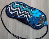 Luxury Eyemask - Lavender Filled - Flowers - Teal - Turquoise - Brown - Chevron - Silk Back - Elasticated