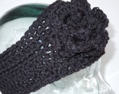 Warm and Wintery Black Headband size adult one size fits most