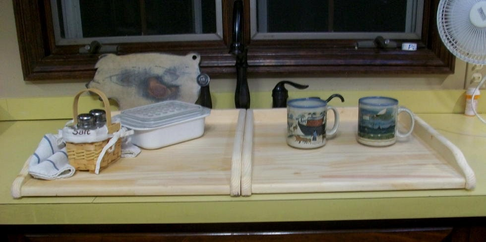 Wood Kitchen Sink Covers for twin sink or Small Stove Board