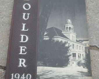 "Antique Houghton College Yearbook From 1940 ""BOULDER"", New York"