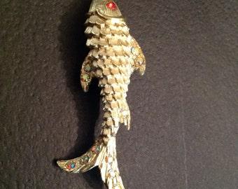 Reduced Vintage Fancy Goldfish Pin