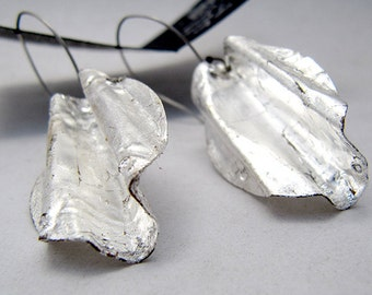Silver Contemporary Disc Dangles, Everyday Silver Jewelry, Modern Mexican silver earrings