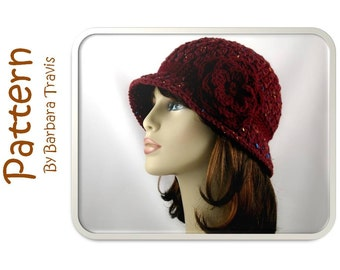 Crochet Pattern Classic Cloche with Flower