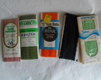 Stretch Lace Seam Bindings Packages NOS Packages