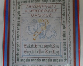Angel Sampler Counted CrossStitch Ribbon Christmas Embroidery Dimensions Needle Kit