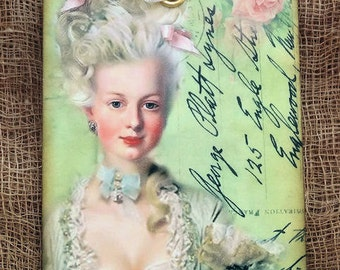 French Marie Antoinette Postcard Gift or Scrapbook Tags or Magnet #199