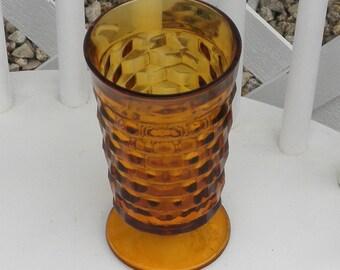Amber Glass Vase Vintage