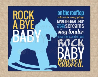 Items Similar To Rock A Bye Baby Name Banner On Etsy