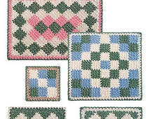 How to Make Single Crochet Entrelac crochet pattern pdf download