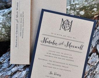 Kraft Kraze Wedding Invitations