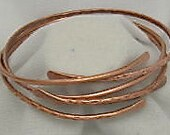 Mother and Daughters Copper Bangles, Adjustable Copper Bangle. Pure Copper, Set of 3, Stackable Bangles.