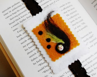 Bookmark...Hand Made...Elastic and Felt...Needle Felted