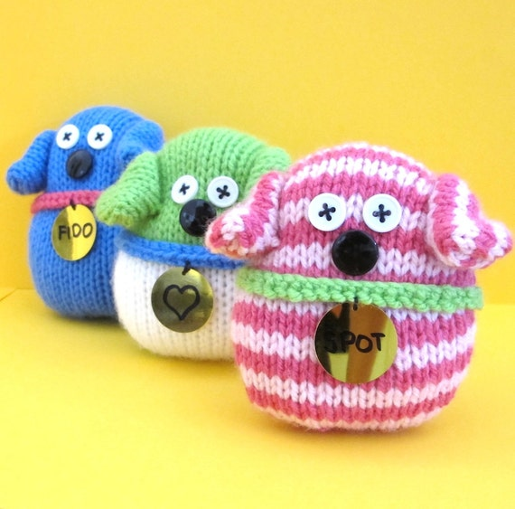 Quick and Easy Dogs INSTANT DOWNLOAD PDF Knitting Pattern