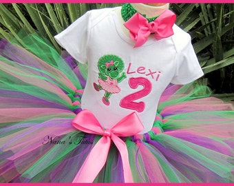 Custom, Birthday Baby Bop, Party Outfit,Tutu Set, Theme Party, Baby Bop with Number, Baby Bop Birthday in Sizes 1yr thru 5yrs