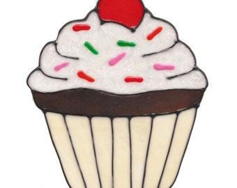 Cupcake Window Cling - White Sprinkles