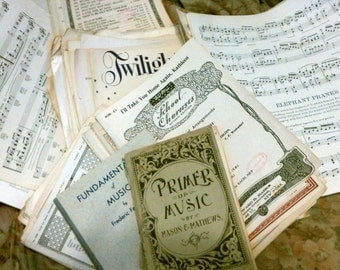 8 Pounds of Vintage Sheet Music Ephemera Great for Altered Arts, Wall Paper & Other Projects!