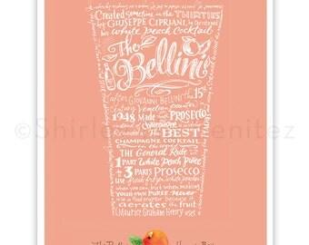 """Handlettered """"The Bellini – Harry's Bar"""" Art Print"""