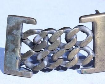 Vintage Chain Link Belt Buckle