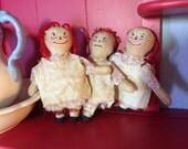 Primitive Raggedy Ann Dolls