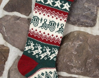 Personalized Christmas Stocking with a train