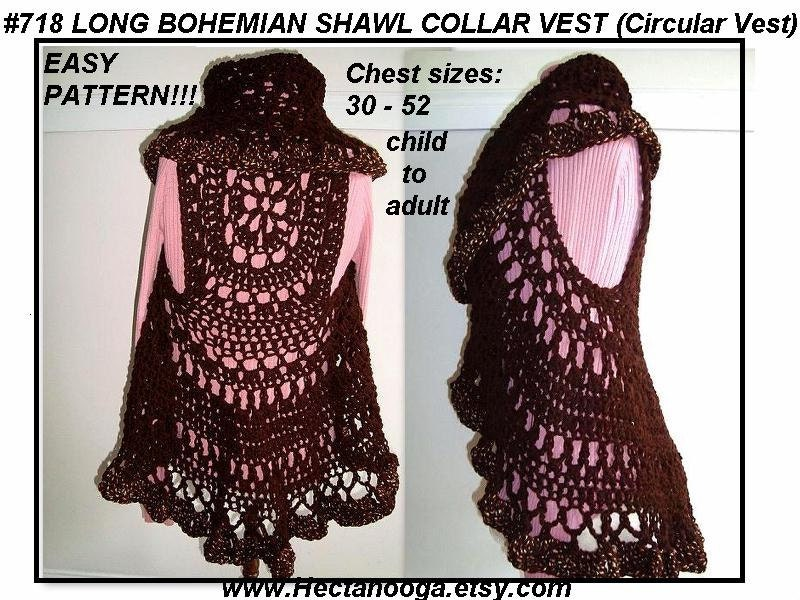 Crochet Circle Pattern Crochet Pattern 718 Long
