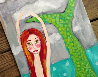 Mermaid Art Coastal Decor Wall Art Whimsical