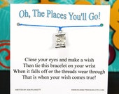 The Places You'll Go - Treasure Map Charm - Wish Bracelet - Shown In SAIL AWAY - Over 100 Different Colors Are Also Available