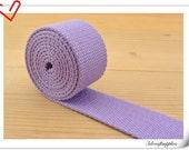 1.25 inch (32mm) lavender Cotton webbing  purse strap  key fob strap bag strap  5 yards ZD66