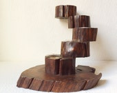 Poseable Vintage Wooden Tea Light Holder