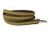 lime medallions leash (1/2 inch)