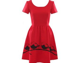Rockabilly Robin Dress