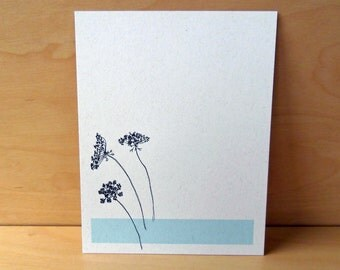 Queen Anne's Lace - Set of 12 Noteflat cards - recycled paper