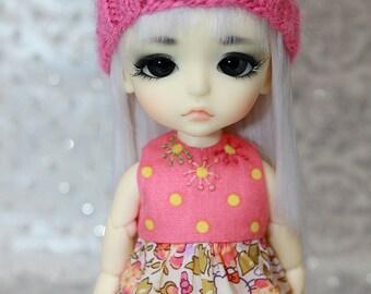 SALE - LATI Yellow PukiFee - Hello Kitty Series - Roses - DRESS - Peach - Coral Pink
