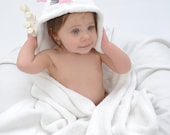 Personalized Yikes Twins Infant Bunny hooded towel