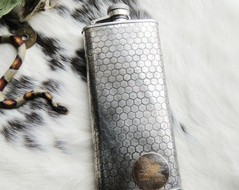 Batch No. 1 Assorted Flasks in Etched & Embossed Designs
