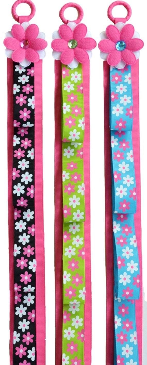 Funky Flower Ribbon Headband Holder