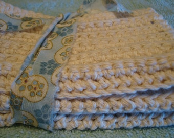Spa Wash Cloths Hand Made Crochet FREE SHIPPING