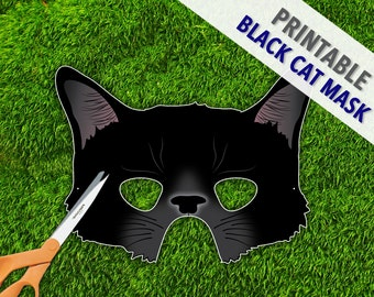 Black Cat Mask | Halloween Mask | Cat Woman Mask | Cosplay