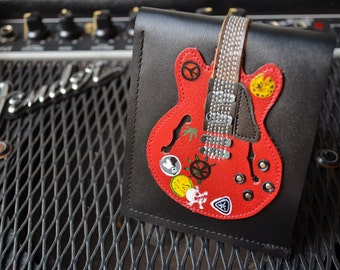 New!! Custom for your guitar  Wallet 335 Big Red Guitar